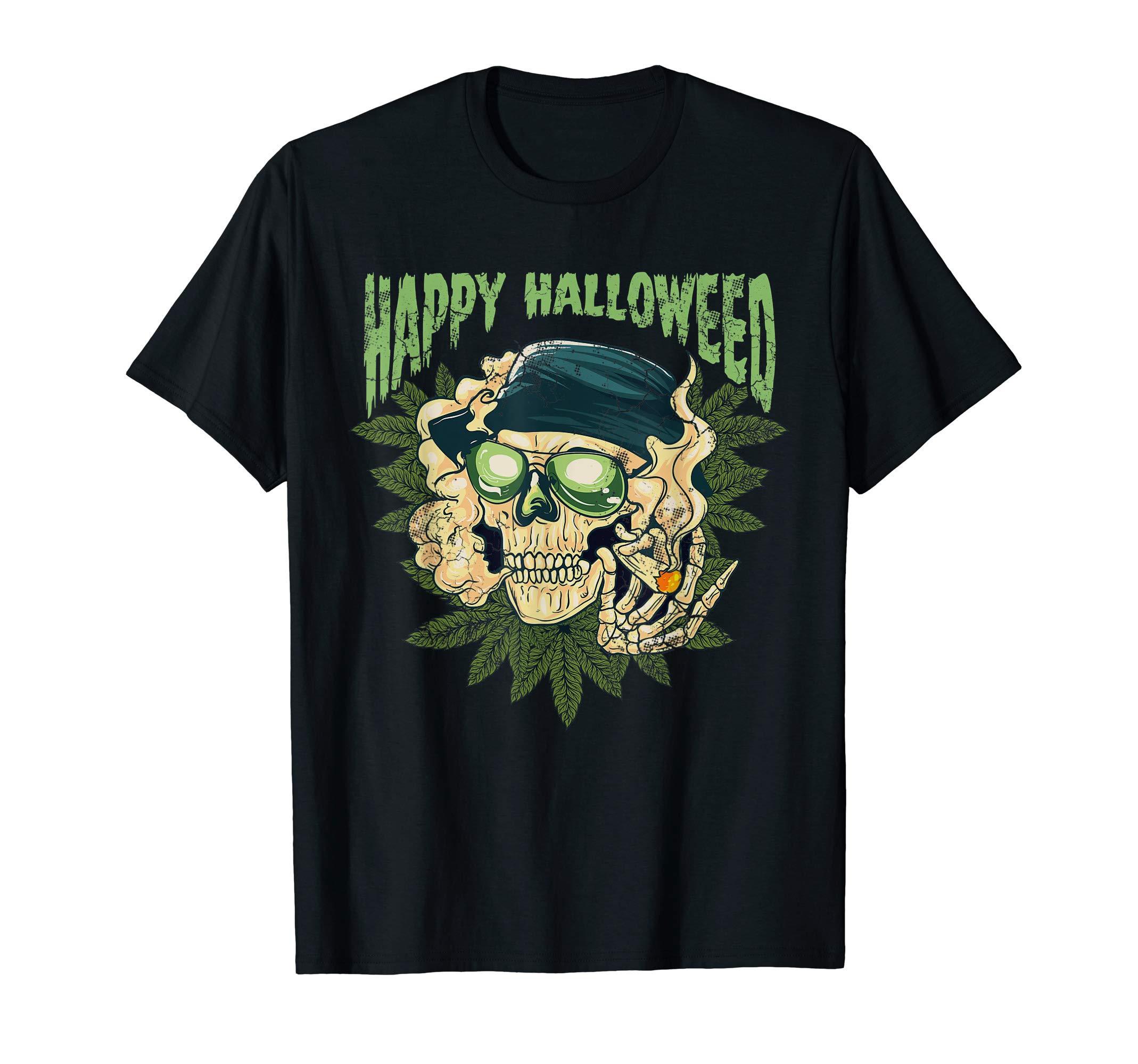Happy Halloweed Halloween Marijuana Weed Cannabis Pot 420 T-Shirt