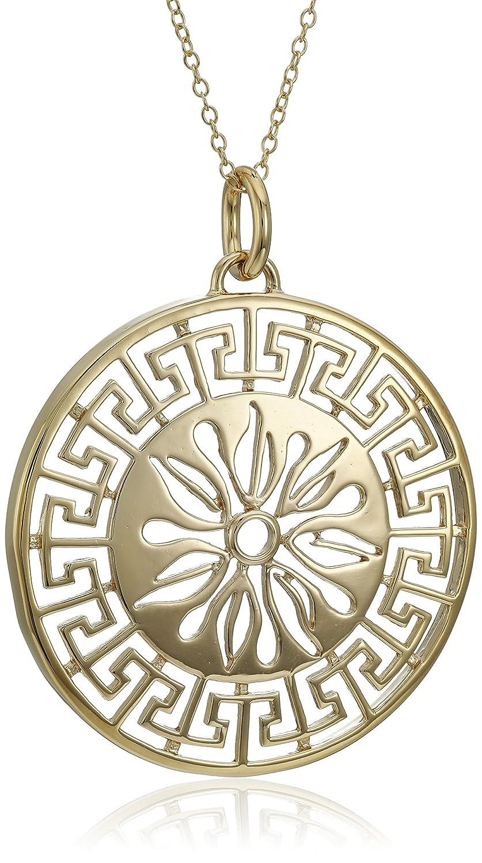 Amazon 18k Yellow Gold Plated Sterling Silver Greek Key
