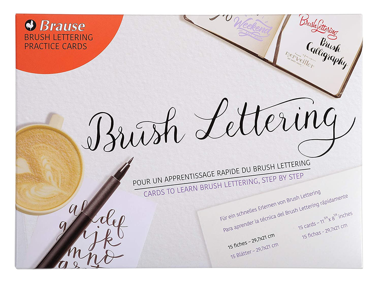Brause Ref 197B hojas de aprendizaje AU Brush lettering