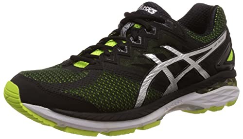 ASICS Men's Gt 2000 4 (2E) Flash Yellow, Black and Silver