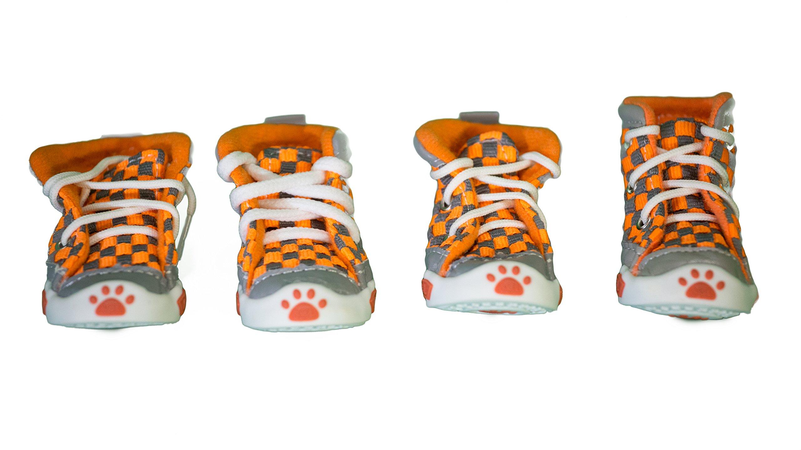 Colorful Cotton Dog Shoes (1, Orange)