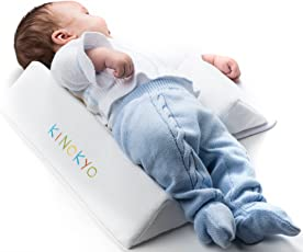 Almohada y cojín antireflujo y antivuelco ajustable para bebé | Previene síndrome de cabeza plana | Cobertor suave con zipper interno 100% algodón por Kinokyo |