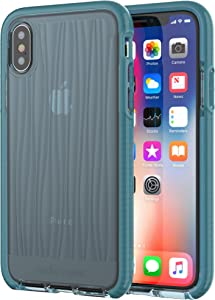 tech21 Apple iPhone X and XS Evo Wave Phone Case with 10 Foot Drop Protection - Teal