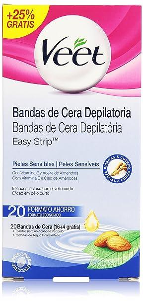 Veet 49961 Bandas de Cera Depilatoria Pieles Normales - 20 unidades: Amazon.es: Amazon Pantry