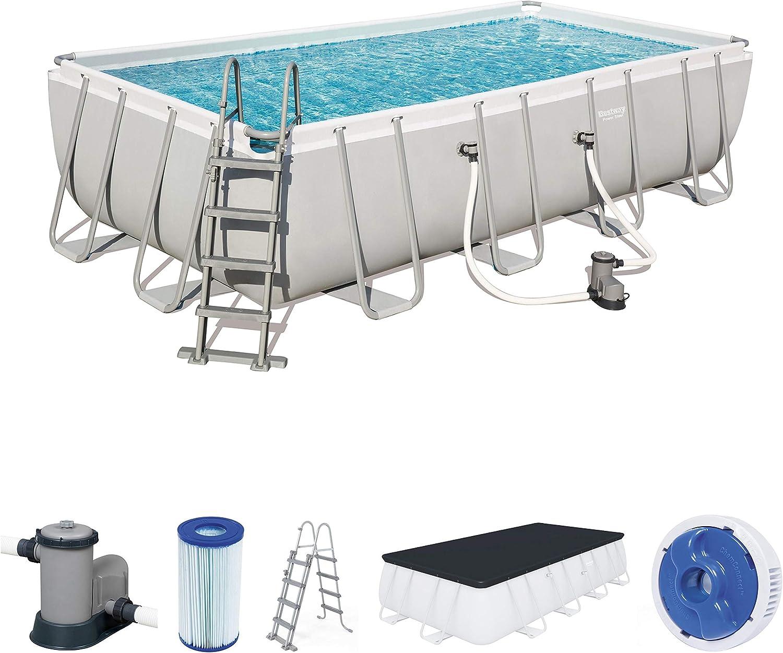 Bestway 56465 Power Steel Rectangular Pool 549 x 274 x 122 cm ...