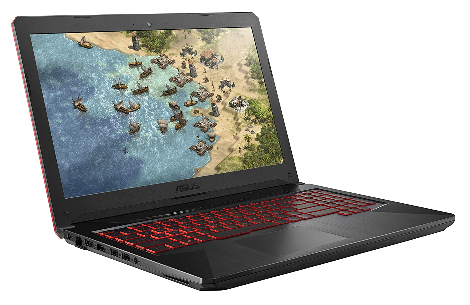 "ASUS TUF Gaming Laptop FX504 15.6"" 120Hz 3ms Full HD, Intel Core i7-8750H Processor, GeForce GTX 1060 6GB, 16GB DDR4, 256GB PCIe SSD + 1TB HDD, Gigabit WiFi, Windows 10 Home - FX504GM-ES74"