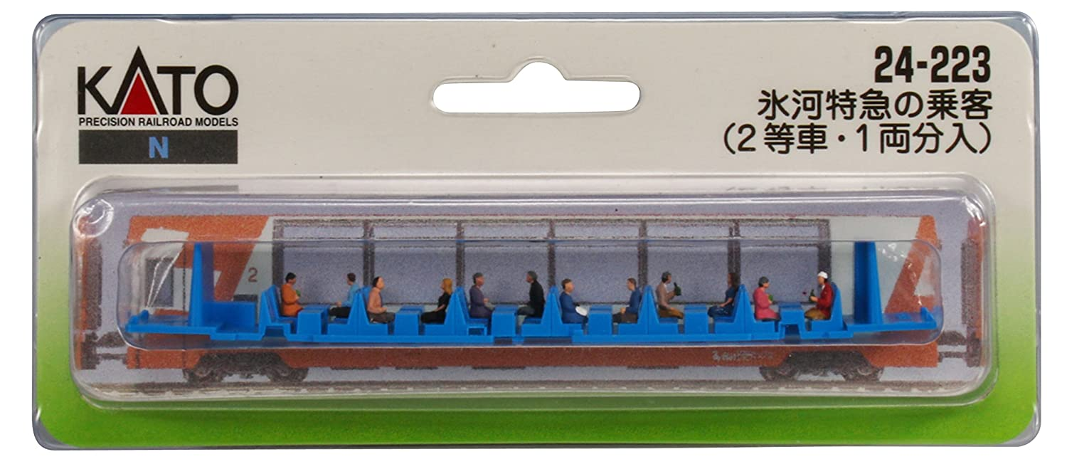 N gauge 24-223 passengers on the Glacier Express 2nd class cars and 1-car