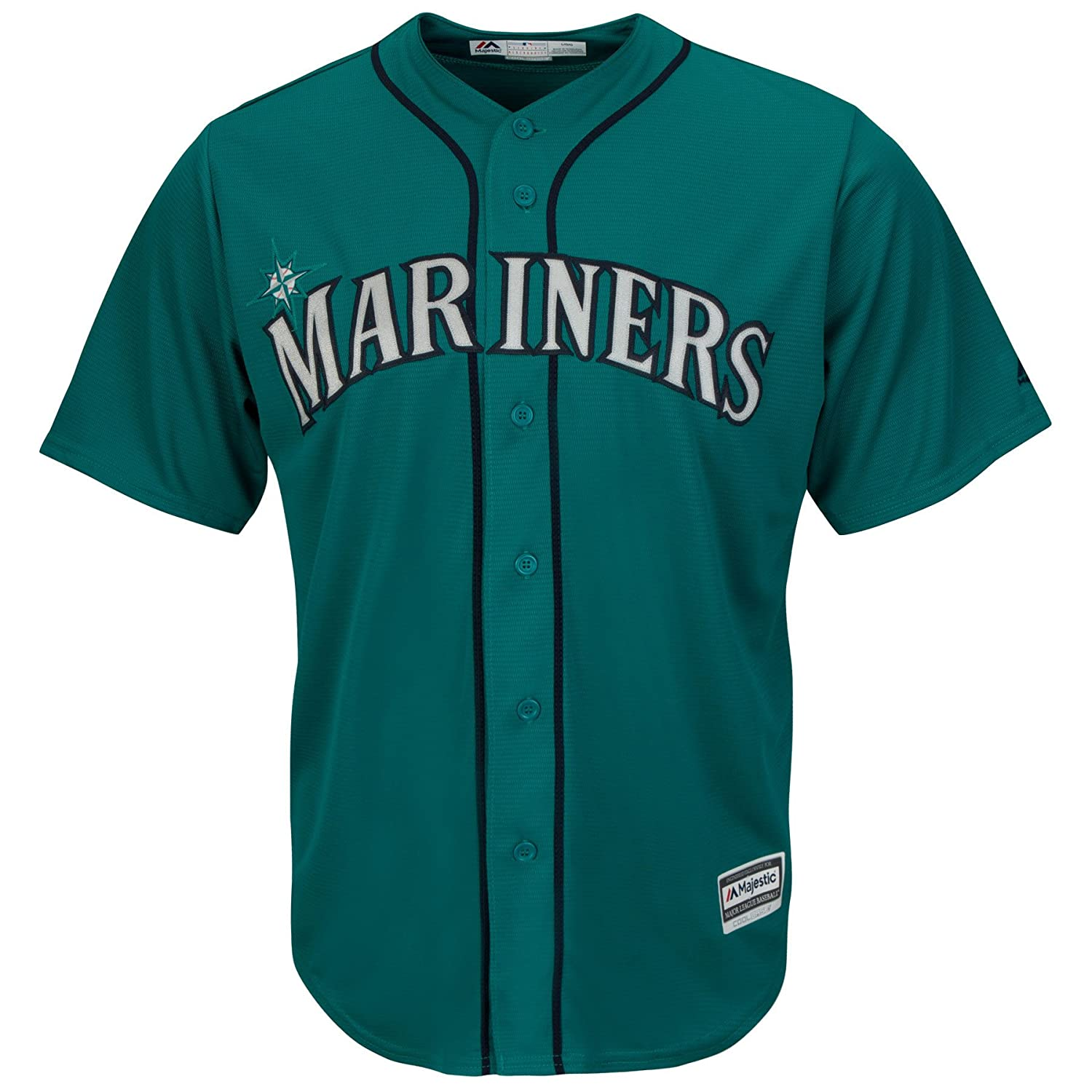 09b730ddb Amazon.com   Seattle Mariners Alternate Teal Cool Base Mens Jersey (Small)    Sports   Outdoors