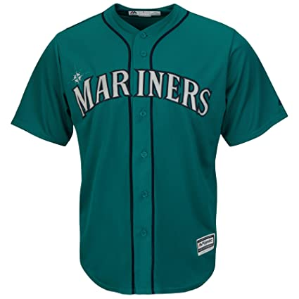 055955b3780 Amazon.com : Seattle Mariners Alternate Teal Cool Base Mens Jersey ...