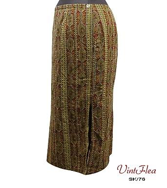 falda larga largas faldas verdes del vestido del verano maxi ...