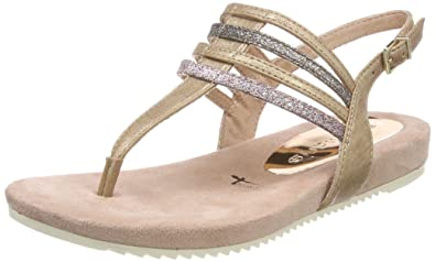 Womens 28634 Sling Back Sandals, Beige (Pepper Comb) Tamaris