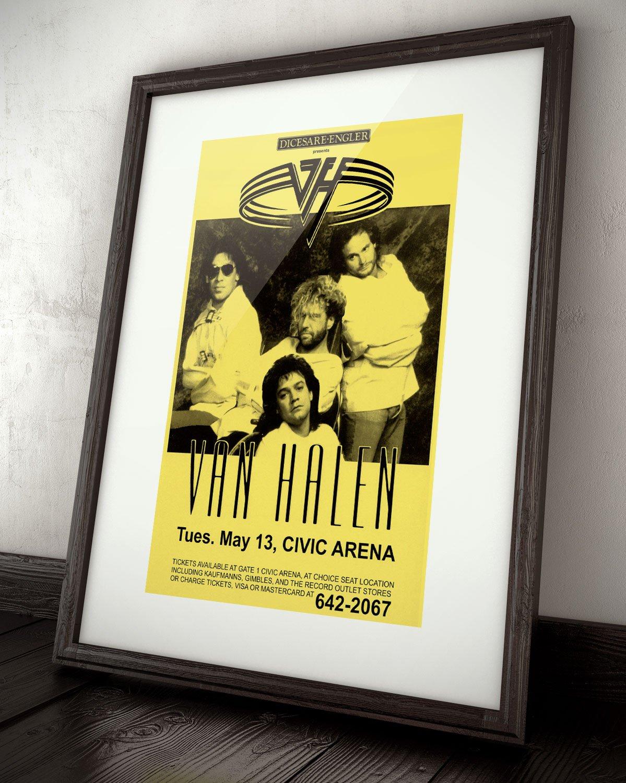 Amazon.com: Innerwallz Van Halen Civic Arena 1986 Live Concert Retro ...