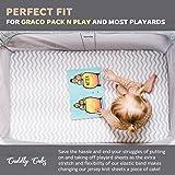"Pack n Play Fitted Playard Sheets - 27 x 39"" Graco, & 24 x 38"" Mini Cribs, Pair"