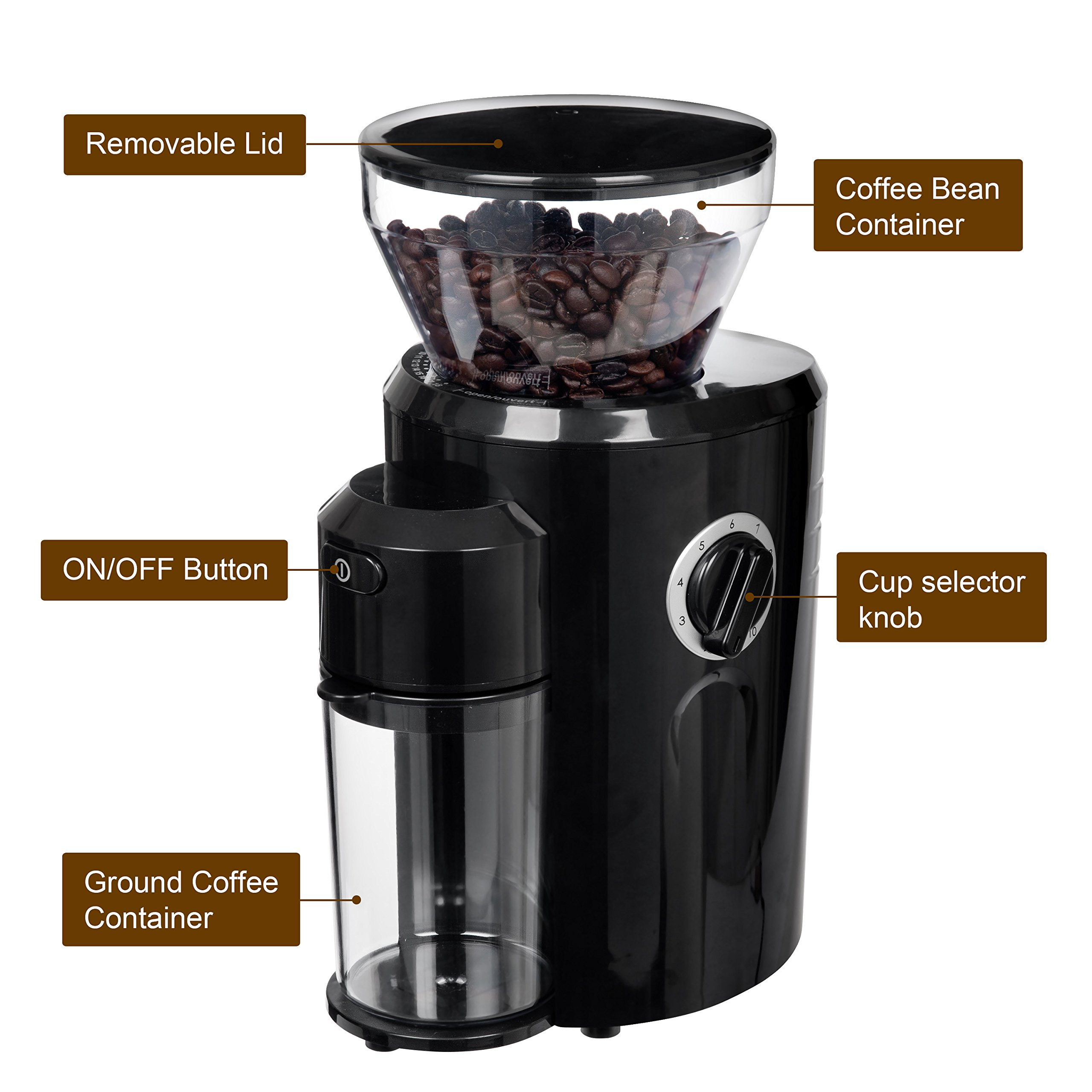 Mazzer Kony Electronic Espresso Grinder 63mm Conical Burrs