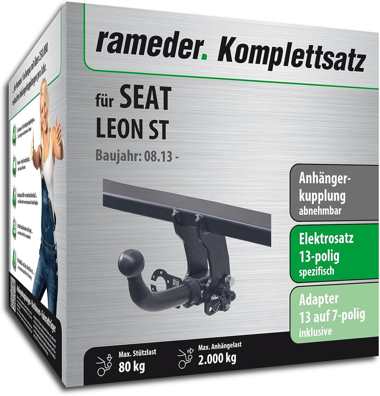 rameder Juego completo, remolque extraíble + 13POL Elektrik para Seat Leon ST (117317 - 11484 - 1): Amazon.es: Coche y moto