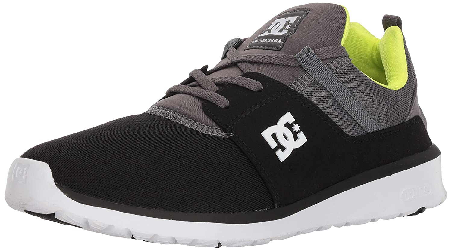 DC Men's Heathrow Casual Skate Shoe B07597K5WB 6.5 D D US|Black/Battleship/Lime