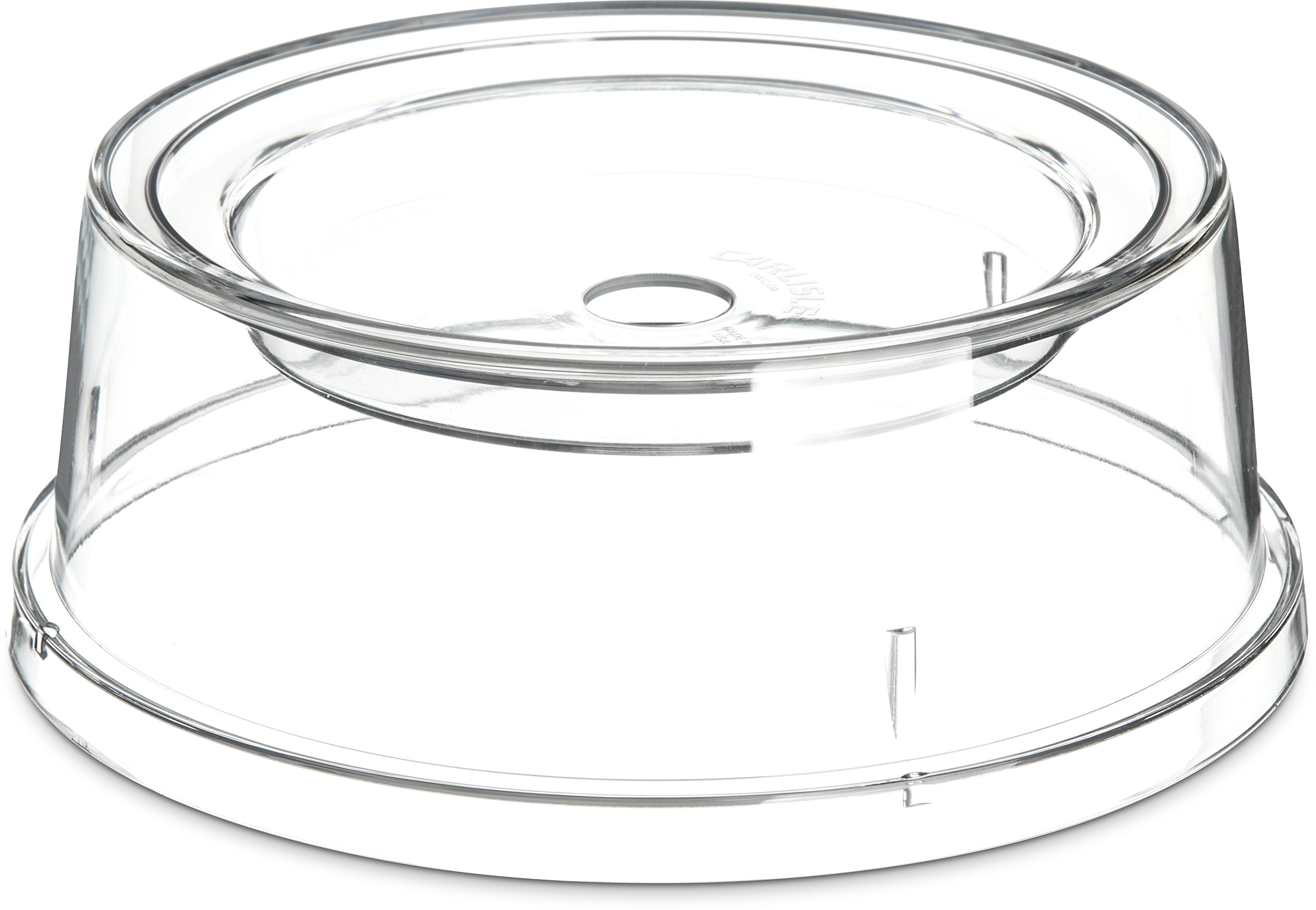 Carlisle 196007 Polycarbonate Plate and Bowl Cover, 9 x 3-13/32'', Clear (Case of 12)