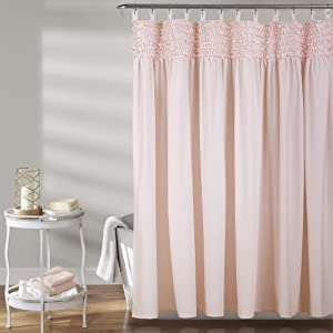 Lush Decor Lydia Ruffle Shower Curtain, 72