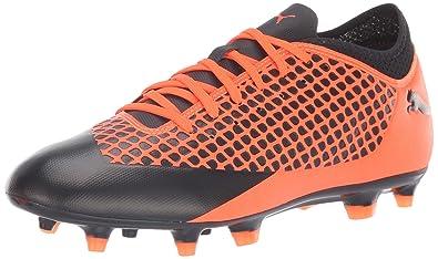 a0984fd10 PUMA Men's Future 2.4 FG/AG Soccer Shoe, Black-Shocking Orange, 7