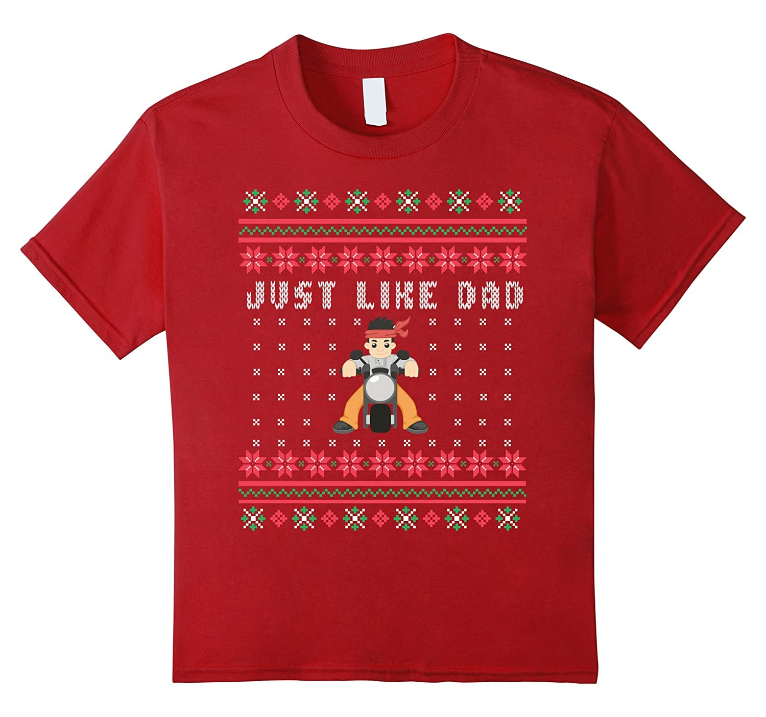 Biker Jr Motorcycle Ugly Christmas T-shirt
