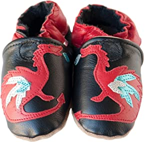 product image for DRAGON DAYS Handmade in USA, All-Natural Leather Baby Shoes.
