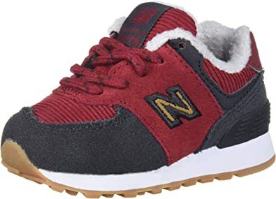 New Balance Unisex-Child 574 V1 Winter Suede Lace-up Sneaker