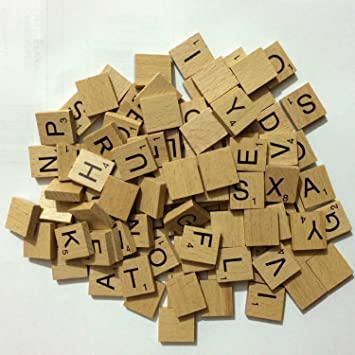 Wooden Scrabbles Tiles Full Set Of 40 Scrabbles Letters For Crafts Simple Making Wooden Board Games