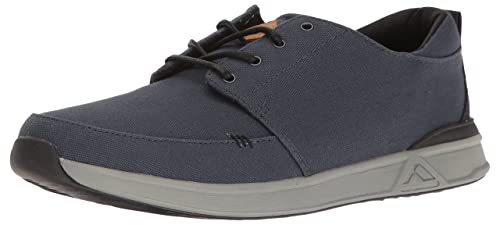 1f38fce96bf8 Reef Men s Rover Low Fashion Sneaker Black  Reef  Amazon.ca  Shoes ...