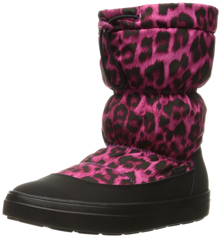 Crocs Women's Lodge Point Pull-On Snow Boot B01A6LMWXK 7 B(M) US|Berry