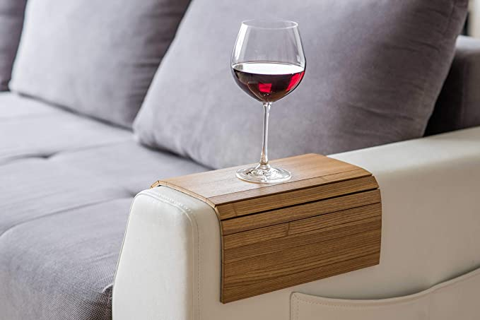 Armlehnenschoner Aus Holz Sofa Ablage Untersetzer Sofa Tablett Farbe 3 Küche Haushalt