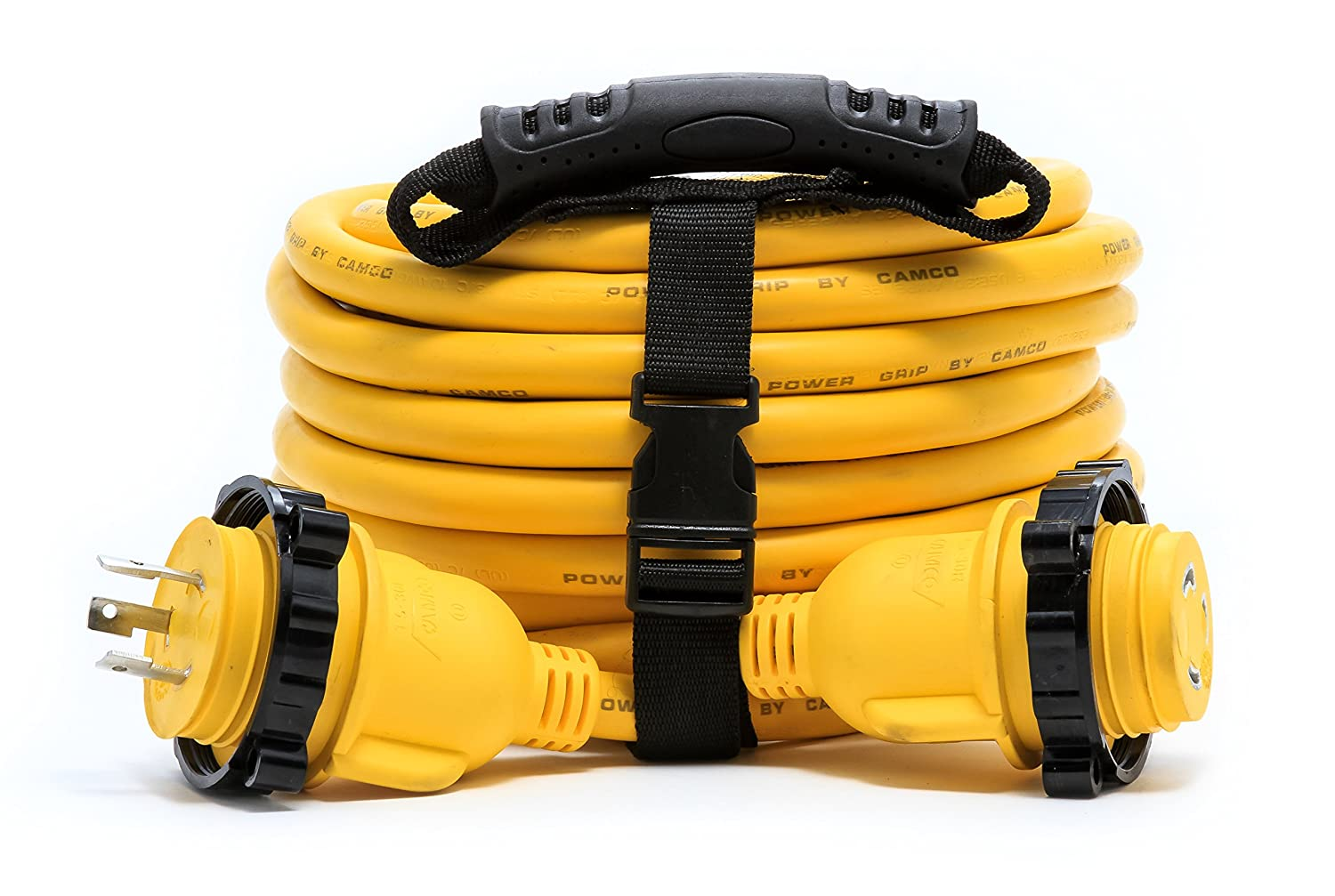 Camco 55612 35 PowerGrip Marine Extension Cord with 30M//30F Locking Adapter