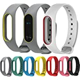 SEC Premium Design Replacement Strap Accessories Bands Wrist Strap For Xiaomi MI Band 2 & Mi Band HRX With Adjustable Buckle (Grey Yellow)
