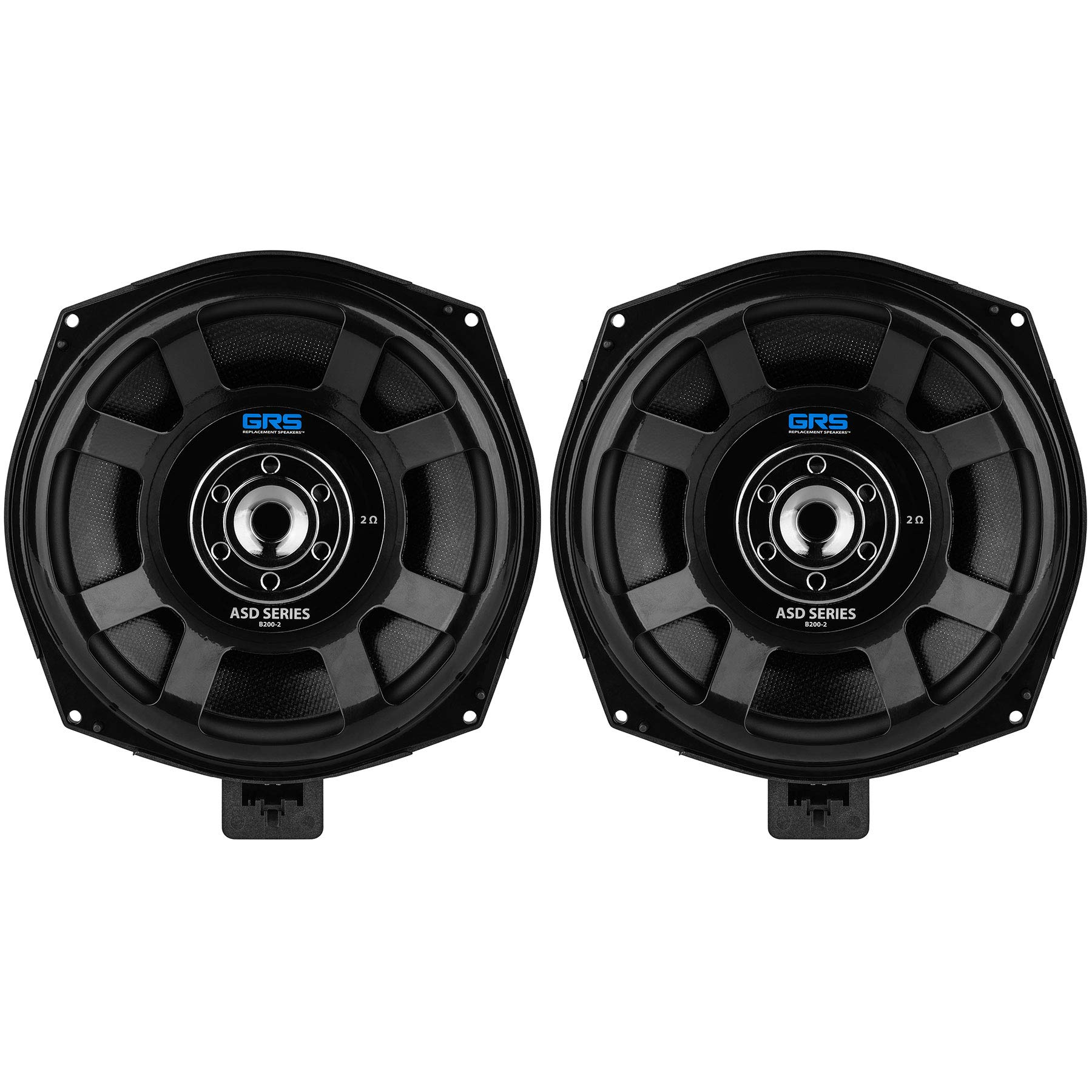 GRS B200-2 ASD Series 8'' Glass Fiber Subwoofer Speaker Pair for Select BMW Models 2 Ohms