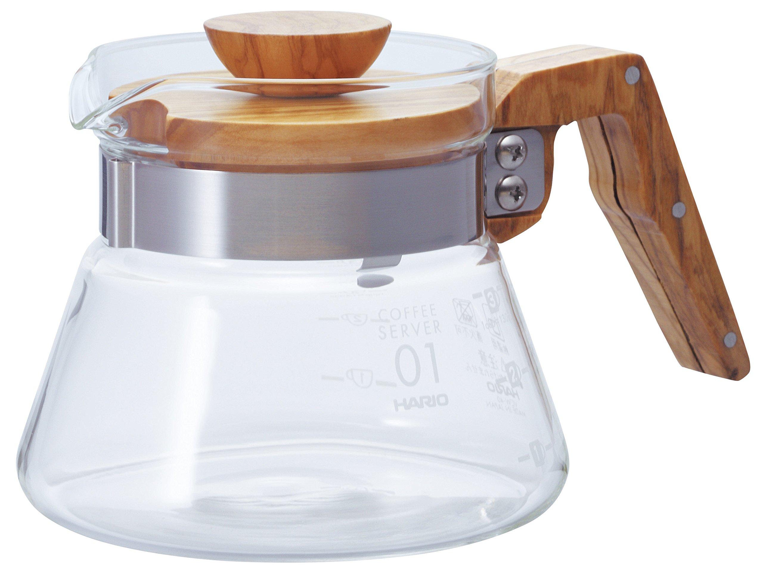 Hario V60 Coffee Server, 400ml, Olive Wood