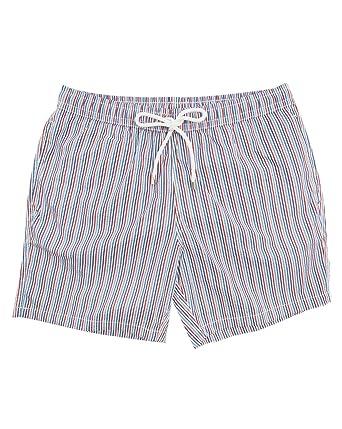 e2678ba829 Hartford - Swimming Trunks - Men - Seersucker Blue Pattern Swim Shorts for  men - L: Amazon.co.uk: Clothing