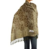 Falari Women's Woven Reversible Paisley Pashmina Shawl Wrap Scarf 80\ x 27\
