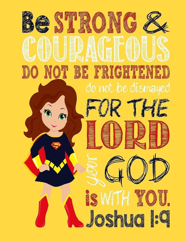 Amazon.com: Superhero Set of 4 - Christian Wall Art Print ...