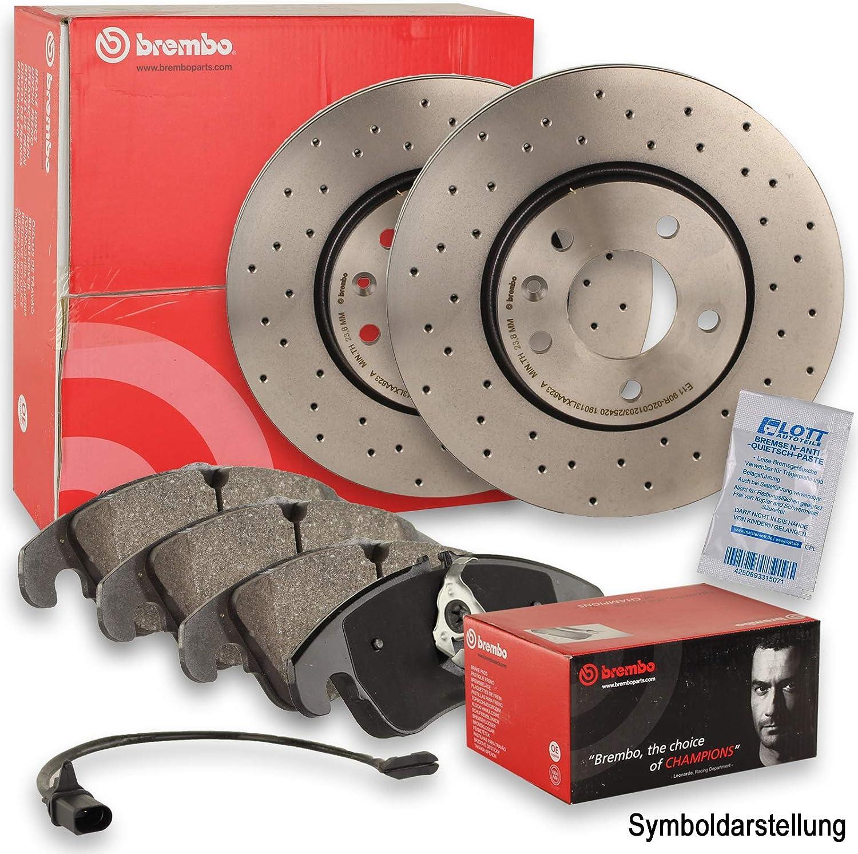 BREMBO XTRA LINE Sport Bremsscheiben /Ø330mm gelocht Warnkontakt vorne Vorderachse BREMBO Bremsbel/äge Bremsbelagsatz