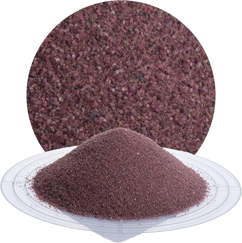 Granatsand Strahlmittel, 350 mesh 0,01-0,06 mm 25 kg Granatsand Strahlmittel zur Graffitientfernung Sanierung von Sandstein Mehrwegstrahlmittel zum Sandstrahlen