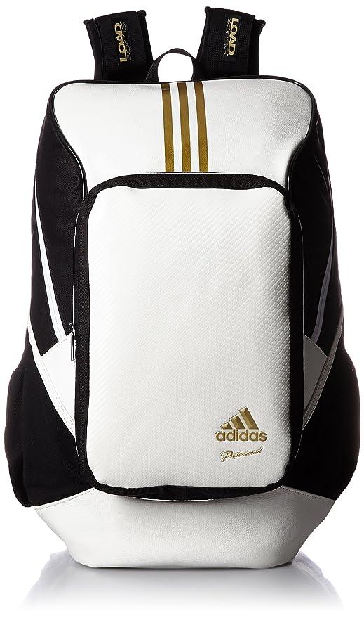 9dd52d0434 adidas Professional backpack BIN37 AP2767 (White   Gold Met)  Amazon ...