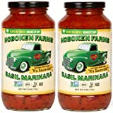 Hoboken Farms Basil Marinara Gourmet Sauce - No Sugar Added, Non GMO Project Verified, Kosher, Vegan, Plant Based, Keto…