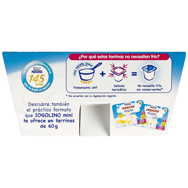 Nestlé Iogolino Alimento infantil, postre lácteo con galleta - Paquete de 4 x 100 gr - Total: 400 gr - [Pack de 6]: Amazon.es: Alimentación y bebidas