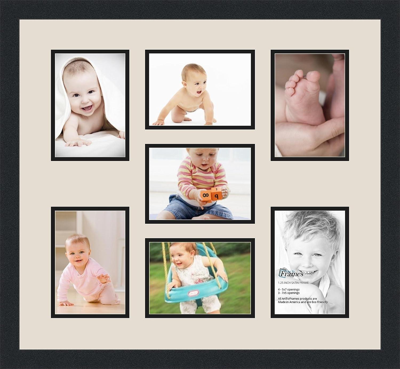 Amazon.de: arttoframes Foto Collage Rahmen Doppel Matte mit 7 ...