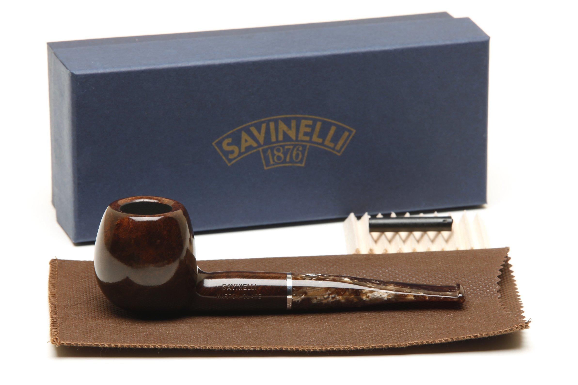 Savinelli Marron Glace 207 Smooth Brown Tobacco Pipe