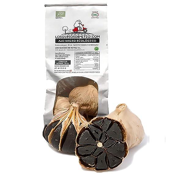 Ajo negro ecológico español de máxima calidad (3 cabezas de ajo negro al natural,