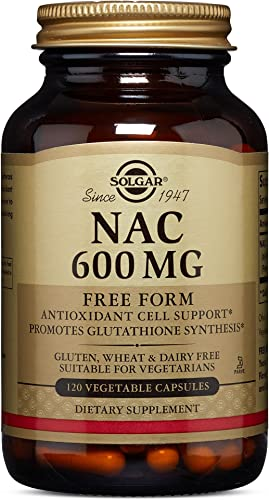Solgar NAC 600 mg, 120 Vegetable Capsules