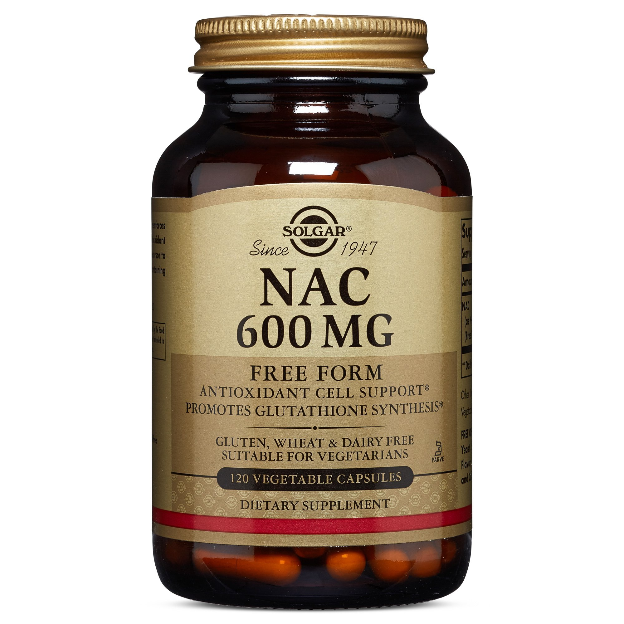 Solgar – NAC 600 mg, 120 Vegetable Capsules
