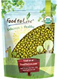 Food to Live Certified Organic Mung Beans (Sprouting, Non-GMO, Bulk) (1 Pound)