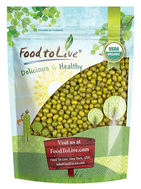Food to Live Frijoles mung Bio certificados (Eco, Ecológico, germinados, No OMG