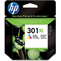 HP CH564EE 301XL High Yield Original Ink Cartridge Tri-Colour (Cyan, Magenta, Yellow), Pack of 1